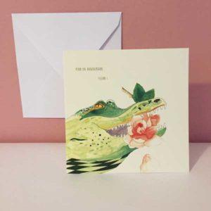 carte postales croco