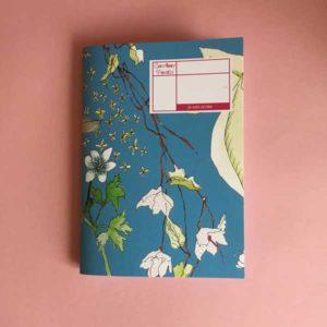Cahier A5 - nouveau jardin bleu