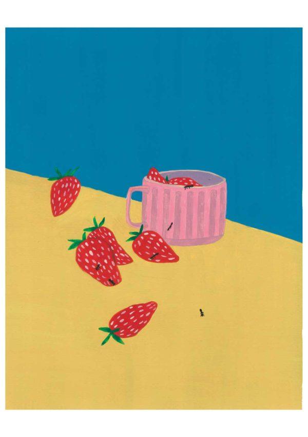tasse aux fraises